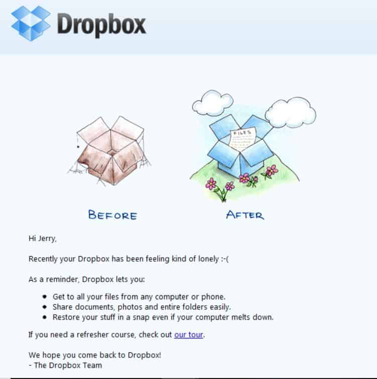 Email Campaign Example - Dropbox