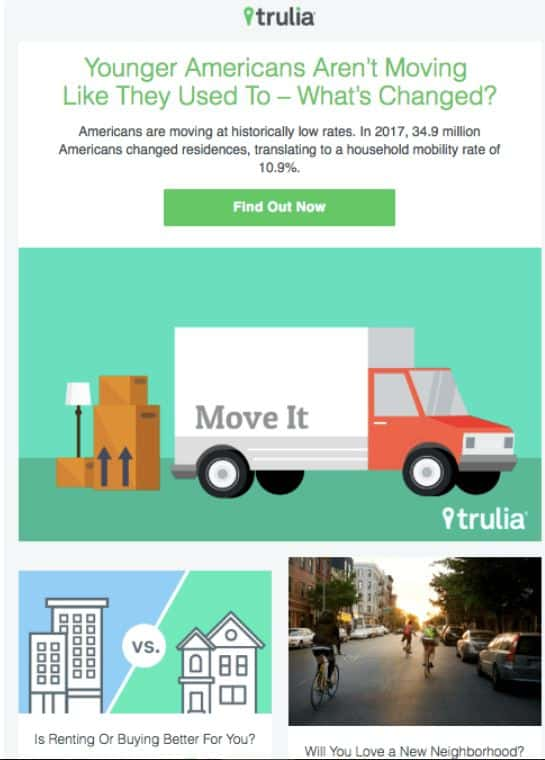 Email Marketing Example - Trulia