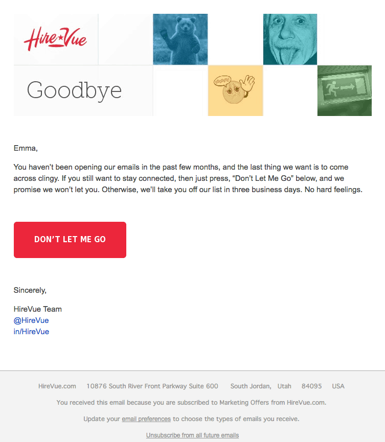 Hirevue Email Campaign