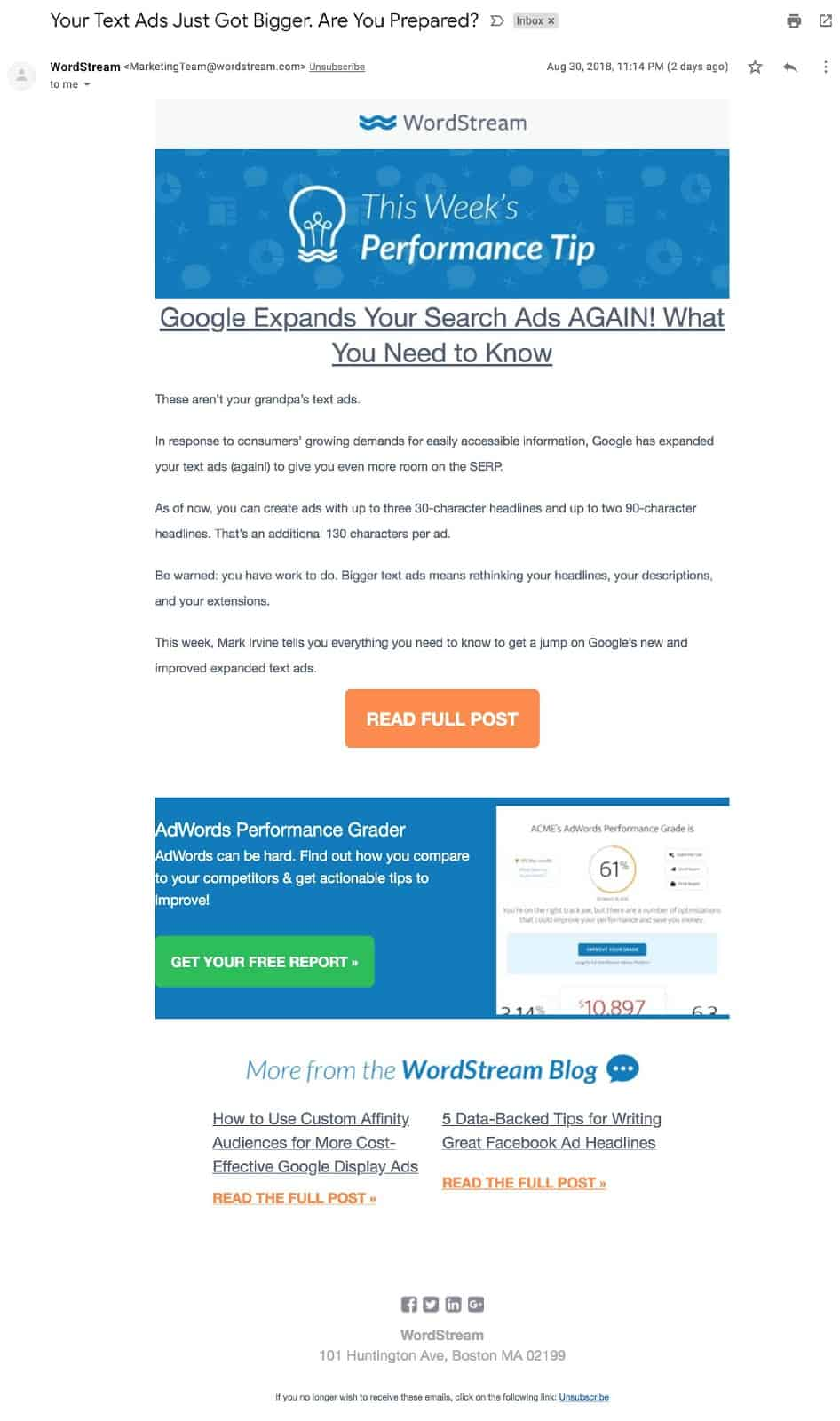 email marketing tips - wordstream
