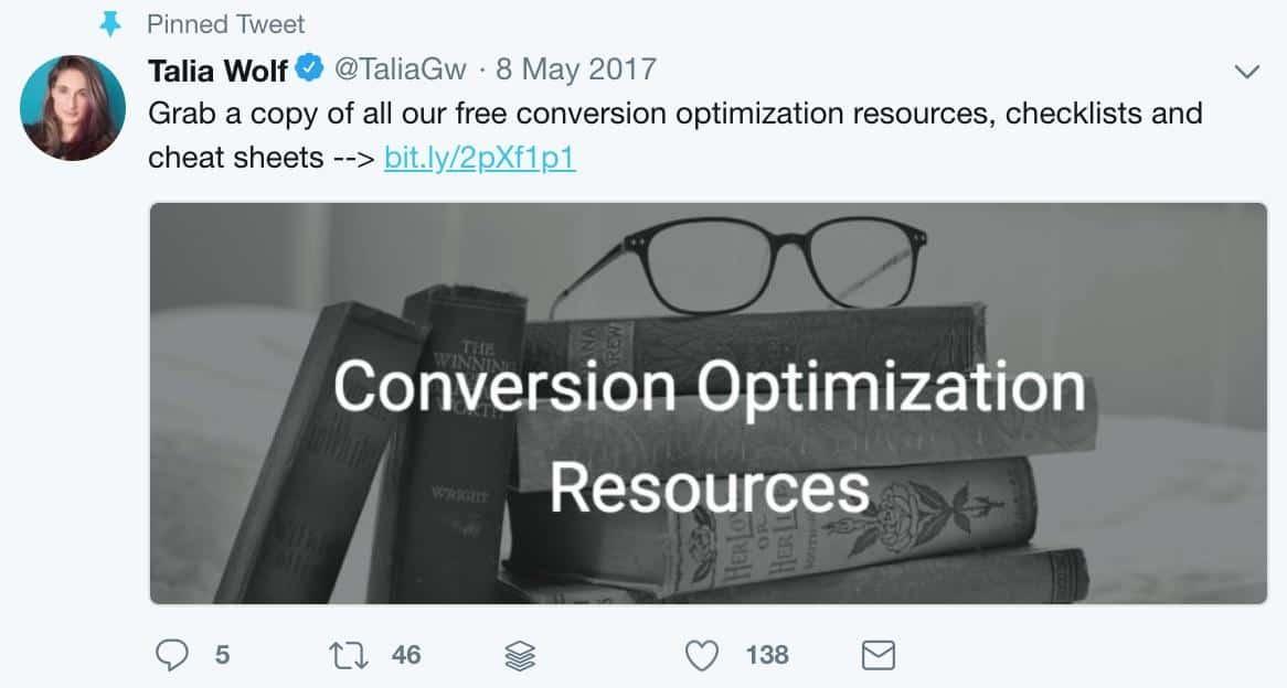 Talia Wolf tweet