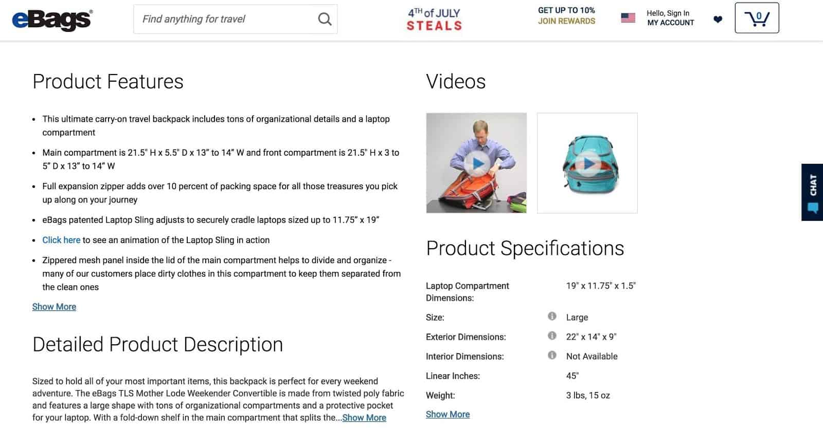 e-commerce personalization on product page