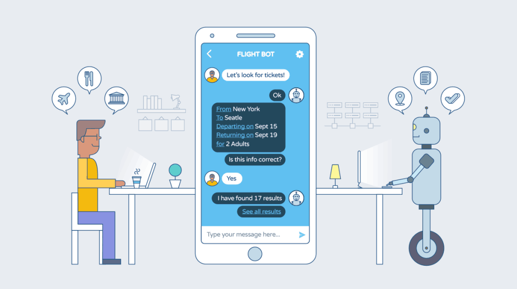 chatbots are a key marketing automation technique to improve customer journey