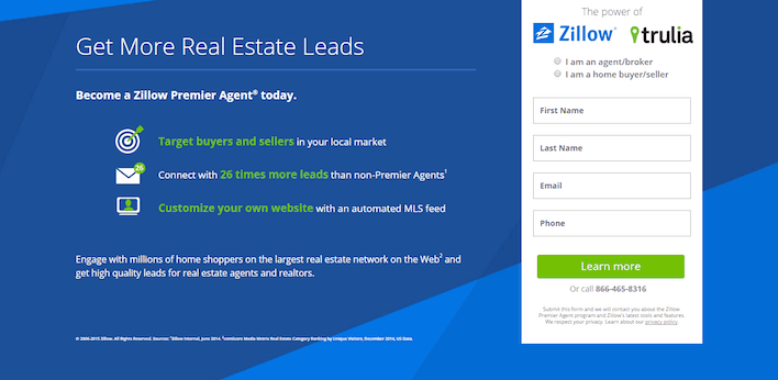 Example of Lead Capture Landing Pages