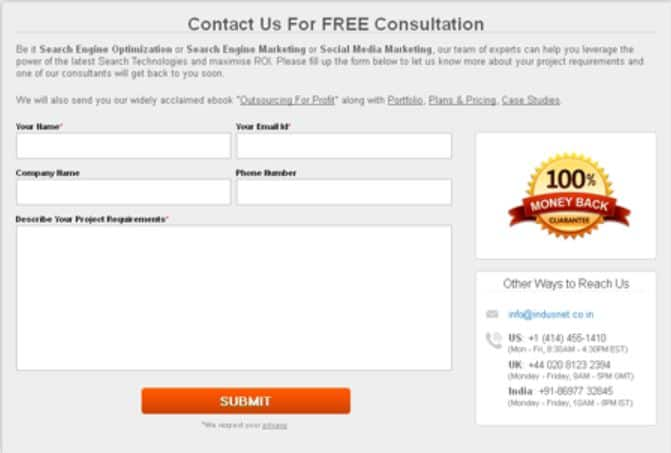 Lead Generation Forms on Lead Capture Landing Pages
