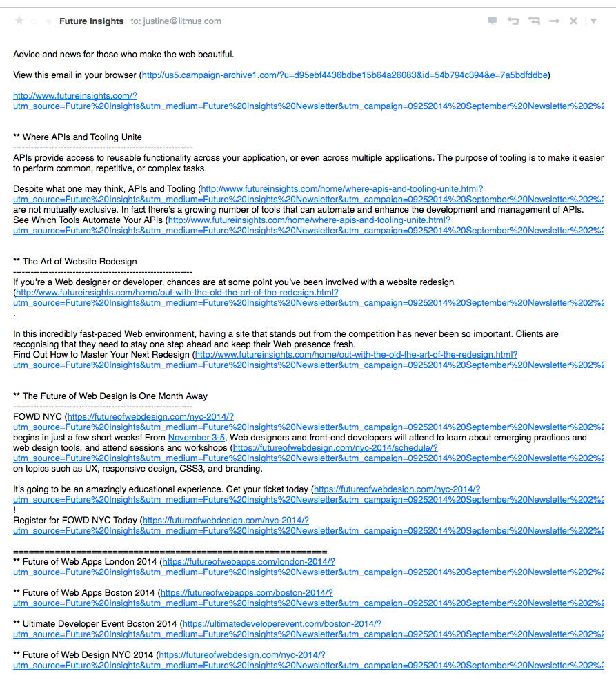 Plain Text Copy of Emails