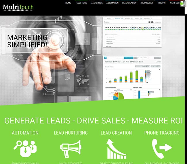 Using generic images on lead capture landing pages