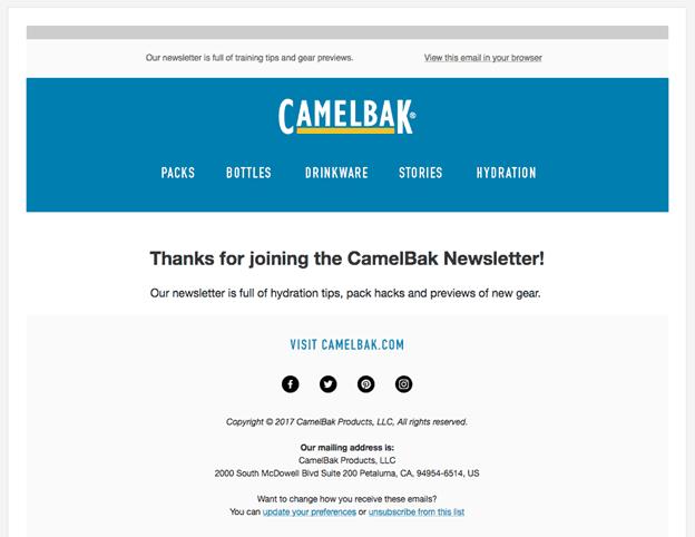 camelbak newsletter