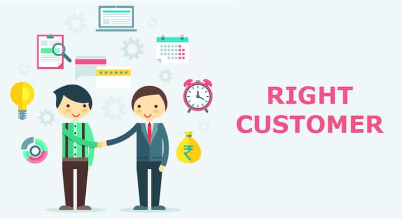 find right customers