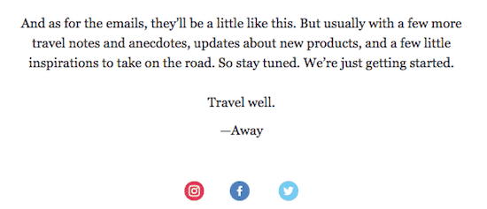 travel well welcome email