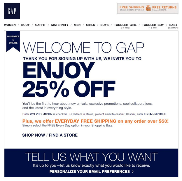 welcome to gap