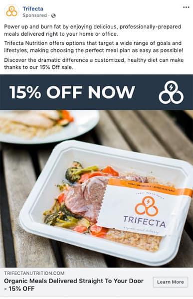 trifecta facebook ad