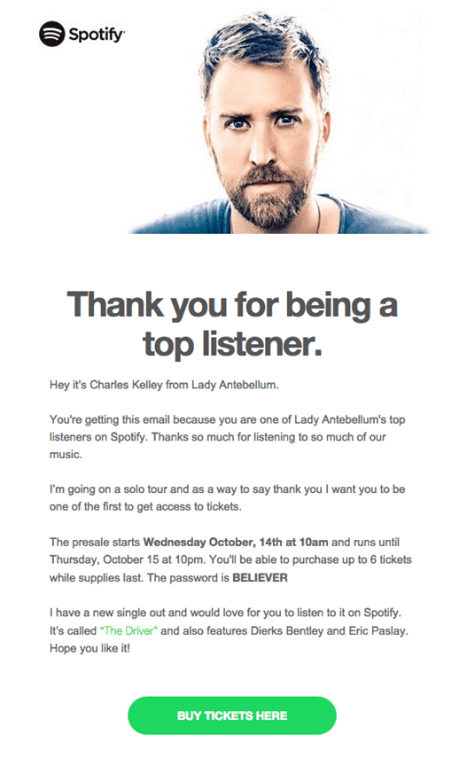 thank you for being a top listener
