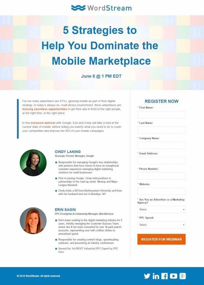 webinar lead generation
