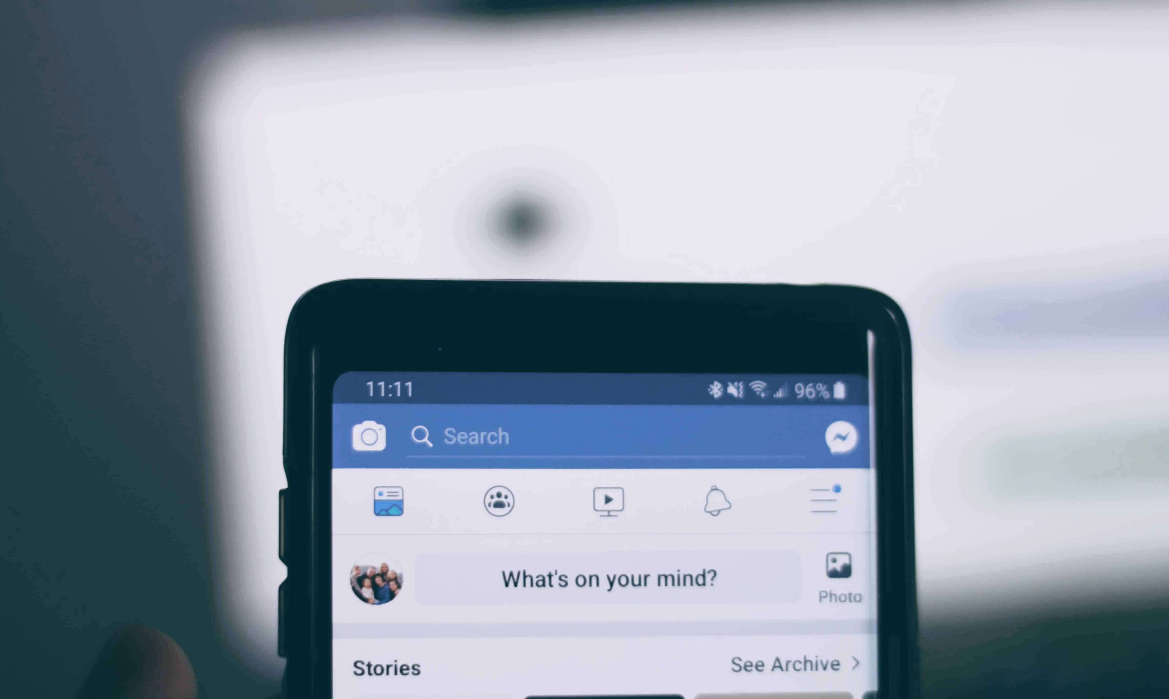 facebook on smartphone
