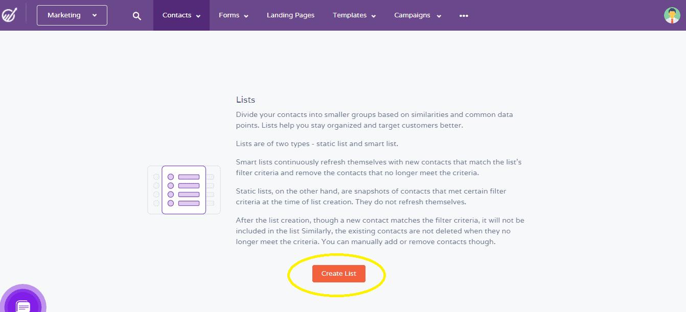 create-list-engagebay