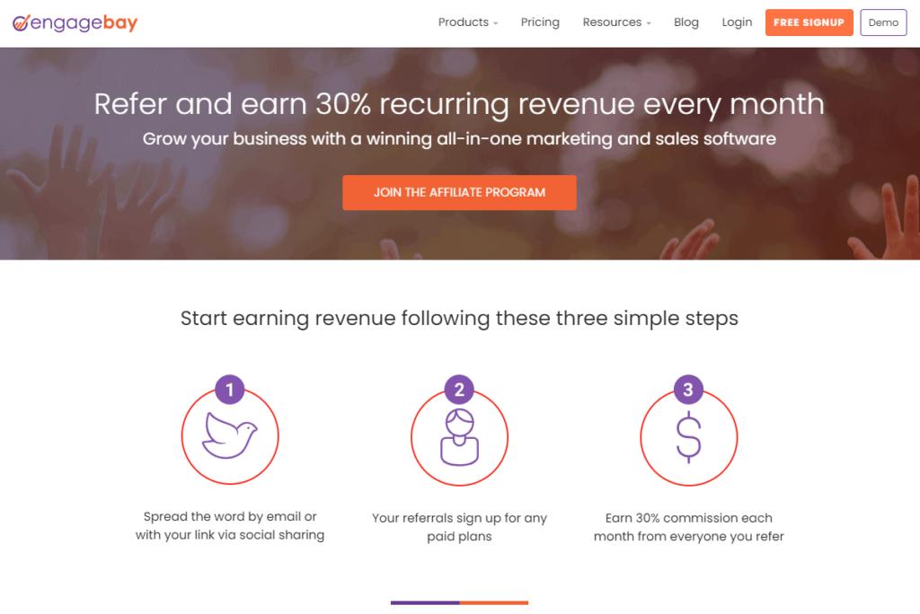 engagebay affiliate program
