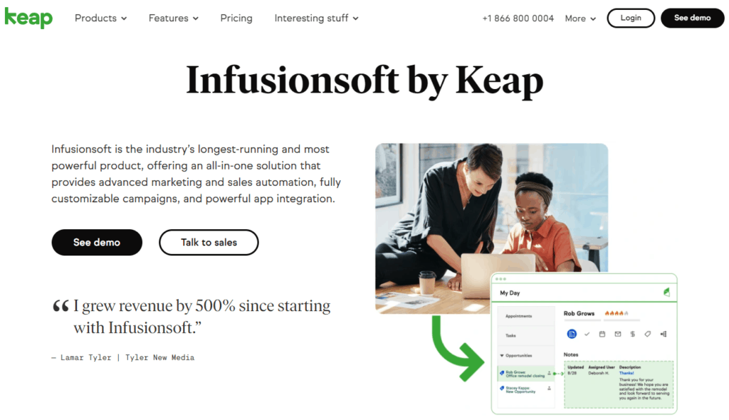 infusionsoft by keap