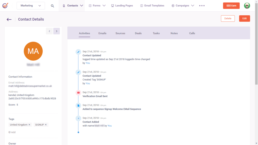 contact management| engagebay