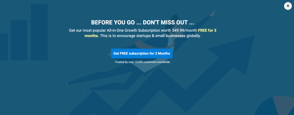 Exit popup examples