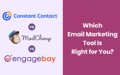 Constant Contact vs. Mailchimp vs. EngageBay: Which Tool Is Better?