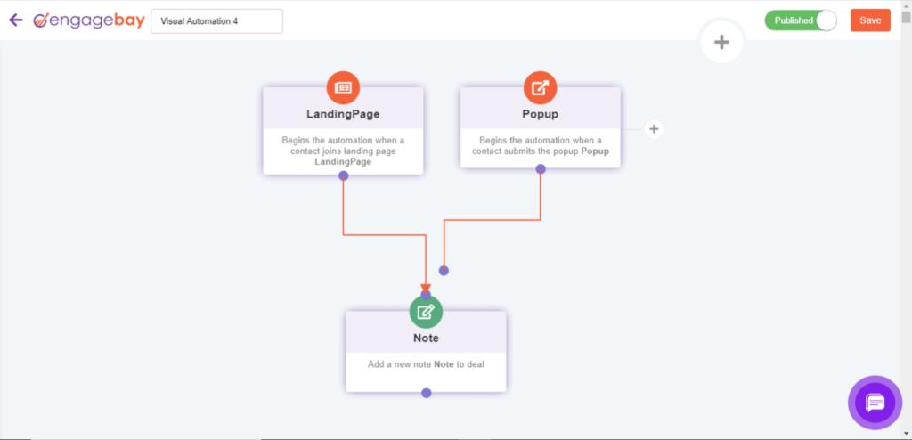 workflow automation engagebay