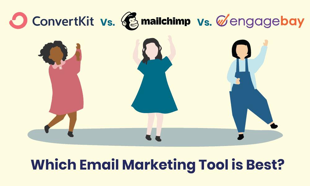 convertkit vs mailchimp vs engagebay