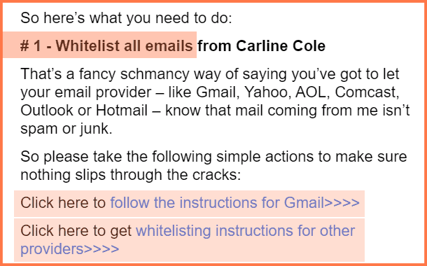 introduction email whitelist instructions